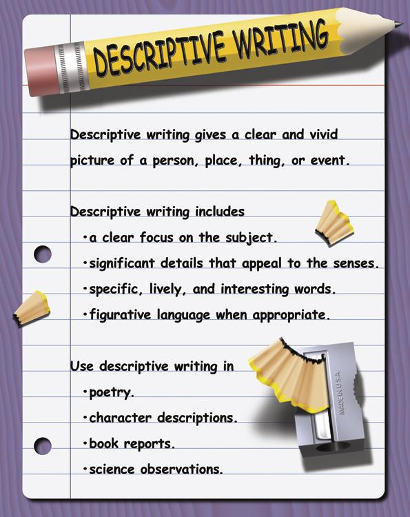 words to use in a descriptive essay